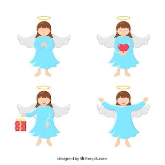 かわいいクリスマスの天使のパック