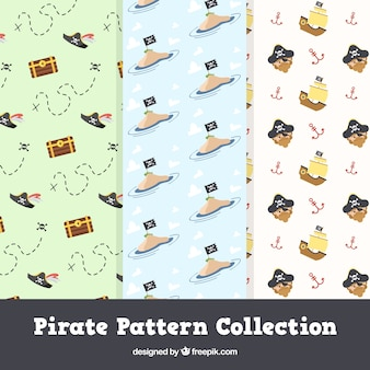 귀여운 해적 패턴 팩