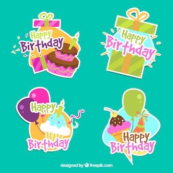 Пакет декоративных наклеек на день рождения