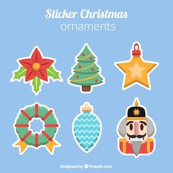 Пакет декоративных рождественские наклейки