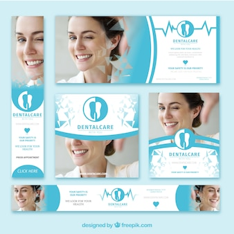 Pack of dentist banners