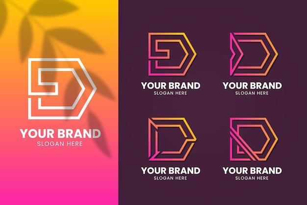 異なるグラデーションdロゴのパック