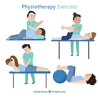 Pack of different kind of physiotherapy exercises