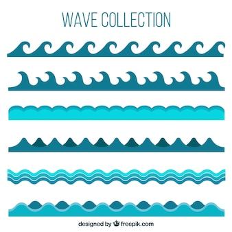 異なる波のパック