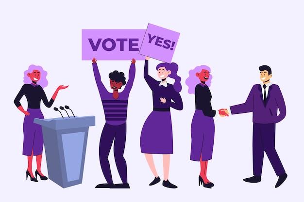 Пакет сцен избирательной кампании