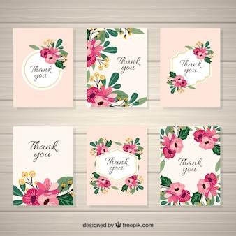 エレガントなヴィンテージの花のカードのパック