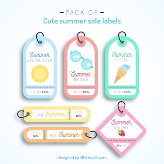 Пакет фантастических ярлыков для продажи летом