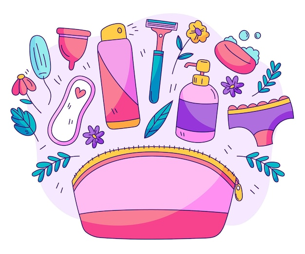 여성 위생 제품 팩