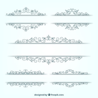 Pack of floral wedding frames in flat design