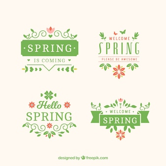Pack of four decorative spring stickers