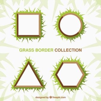 Пакет из четырех геометрических кадров травы