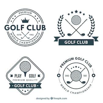 4つのゴルフラベルのパック