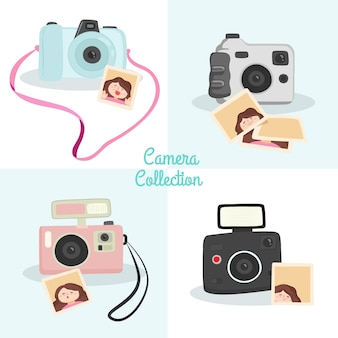 4つのポラロイドカメラのパック
