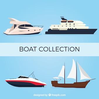 4つの現実的なボートのパック