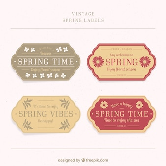 Pack of four spring labels