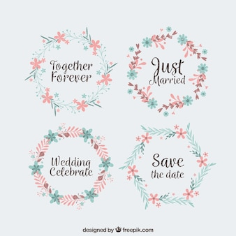 Pack of four spring wedding wreaths
