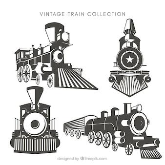 Пакет из четырех старинных поездов