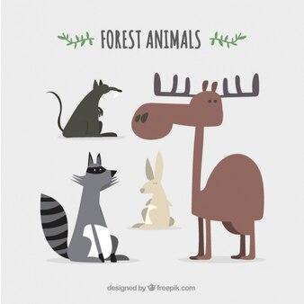 Пакет забавных лесных животных