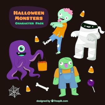 Пакет забавный хэллоуин монстр