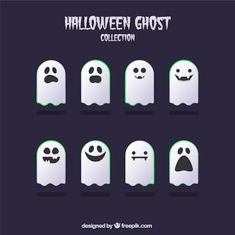 フラットデザインの幽霊のパック