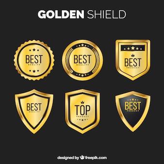 金色の盾のパック