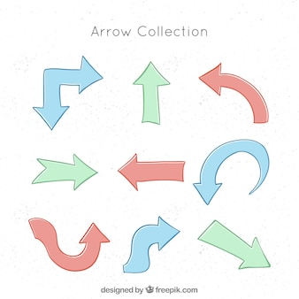 Pack of hand-drawn arrows