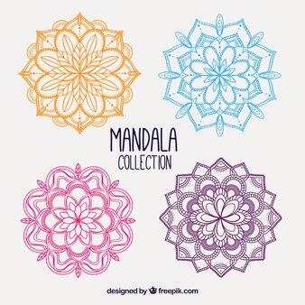 手描きの色のマンダラのパック