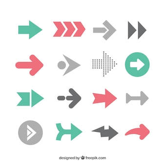 Pack of infographic arrows in flat design
