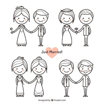 그냥 결혼 한 커플 팩
