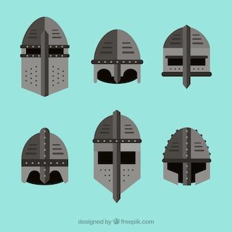 Пакет рыцарских шлемов с плоской конструкцией