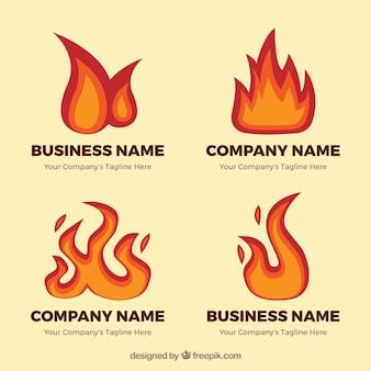 幻想的な炎にロゴのパック