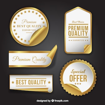 Pack of luxury products stickers
