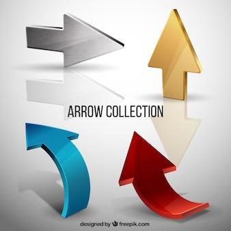 Pack of metal arrows