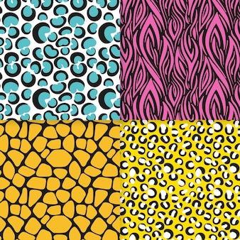 현대적인 동물 프린트 패턴 팩