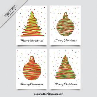 現代のクリスマスの挨拶のパック