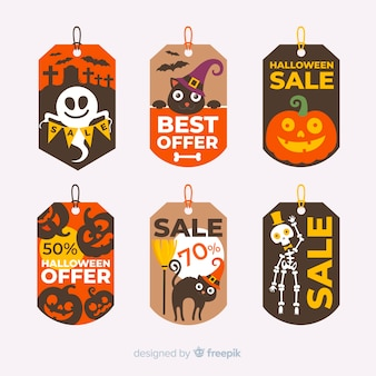 Pack of modern halloween sale labels