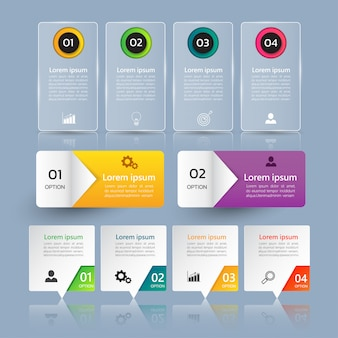 Pack of modern infographic element template