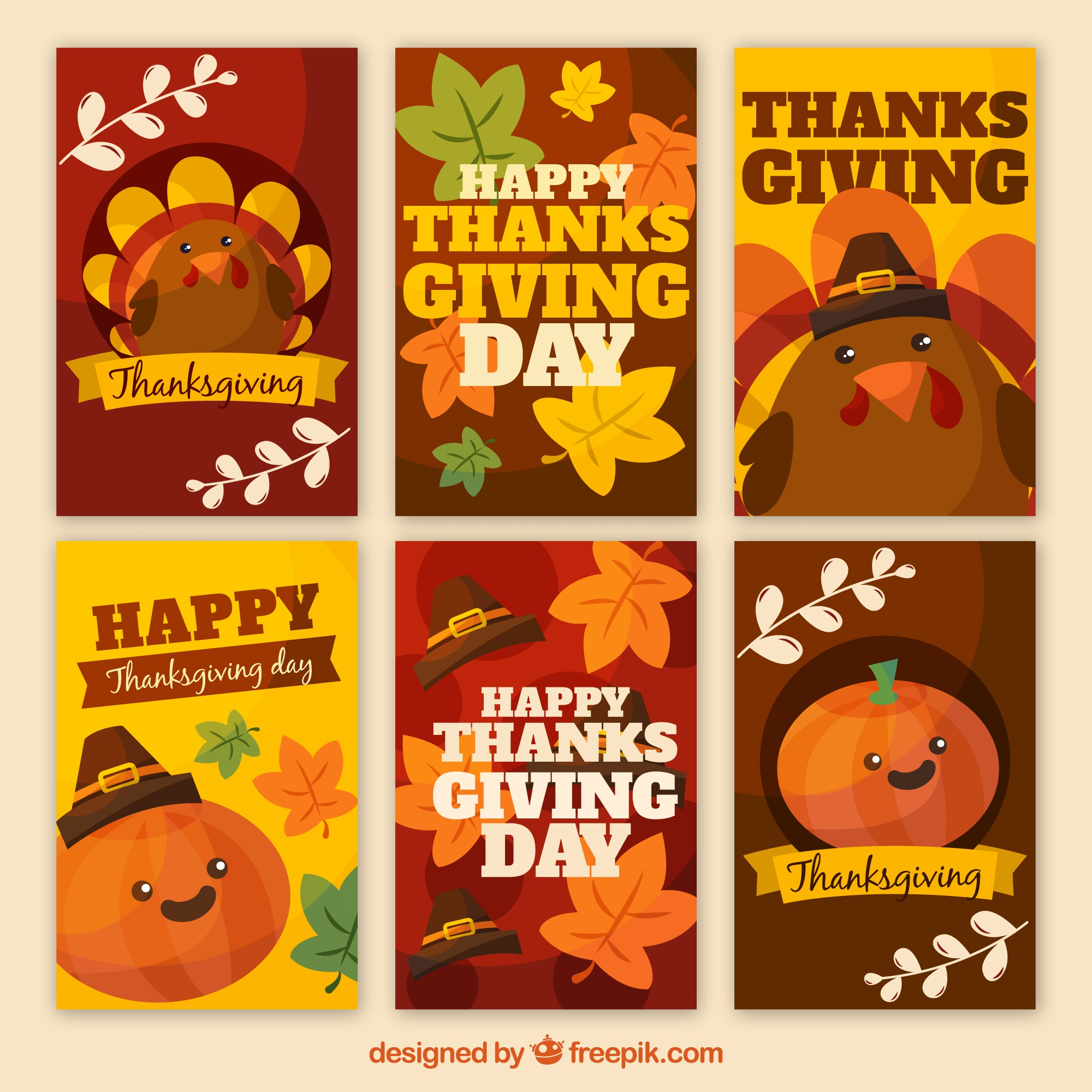 Pack of nice thanksgiving cards