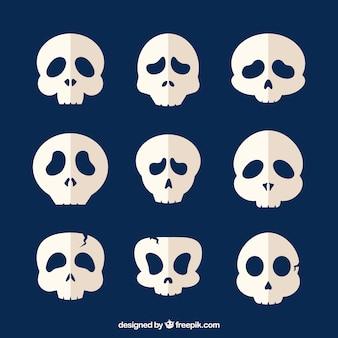 Пакет из девяти фантастических черепов