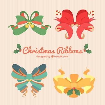 Пакет декоративных рождественских луки