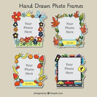 手描き飾り付きフォトフレームパック