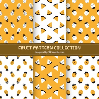 パイナップルとスイカのパターンのパック