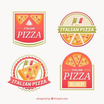 ピザのロゴのパック