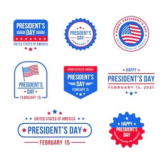 大統領の日のイベントバッジのパック