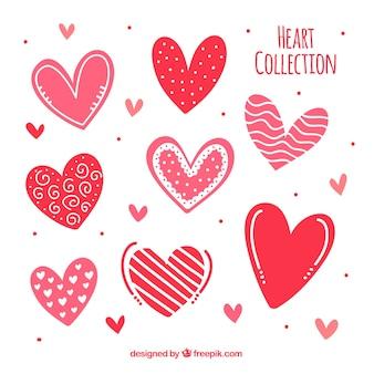 Пакет красивых сердец
