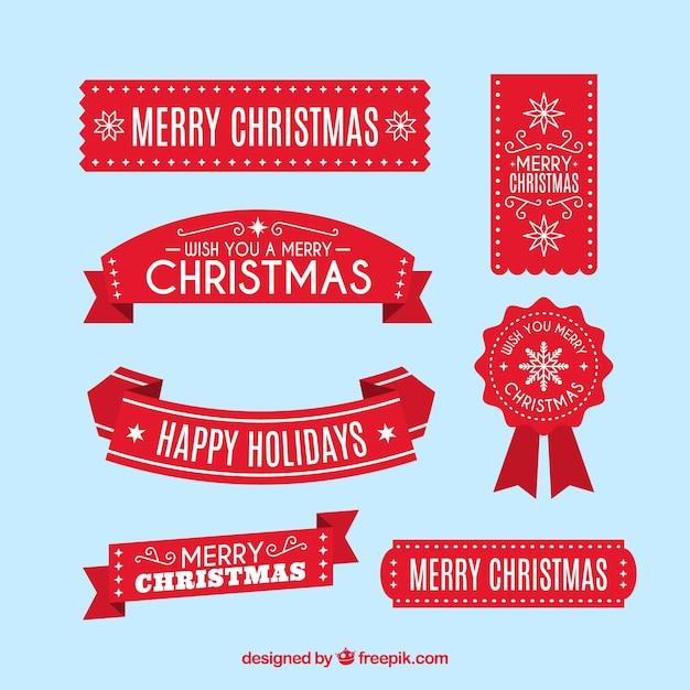 christmas ribbon vectors photos and psd files free download rh freepik com christmas red ribbon vector christmas red ribbon vector