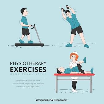 Пакет реабилитационных упражнений в ручном стиле