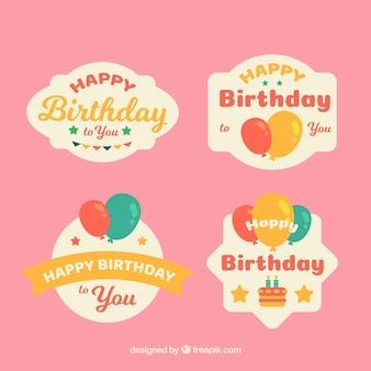 Пакет ретро-стикеров на день рождения