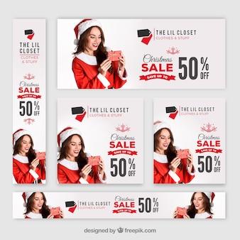 크리스마스 판매 배너 팩