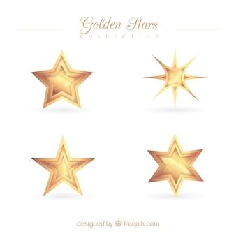 Pack of shiny golden stars